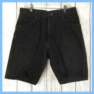 Wrangler Women's Black Cotton Short Size 36